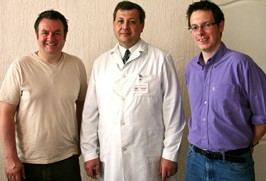 Nige Burton, Dr Oleg Zimelihin and Jamie Salisbury-Jones
