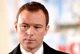 Andrew Lancel, Chernobyl Heart's first patron (image courtesy of ITV)